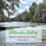 Park City Utah is the perfect place to discover and explore new adventures while whitewater rafting which will quickly have you plan your winter fun too! Park City Utah Summer | Park City Utah Things to Do | Park City Utah Weather | When to go to Utah | Things to do in Utah