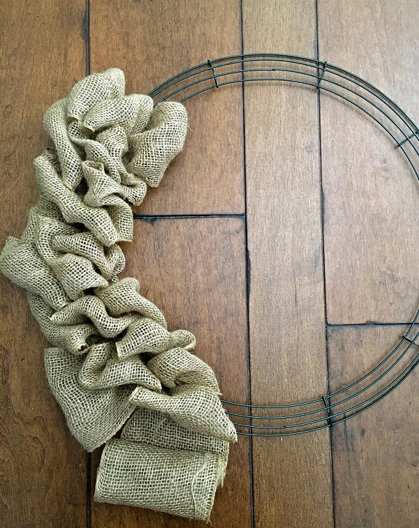Neutral fall diy burlap wreath - Our neutral fall DIY burlap wreath keeps your home looking chic and stylish throughout the entire season with its Restoration Hardware inspired design.
