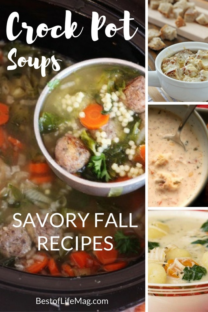 Crock pot soups for fall help fill you up, keep you healthy, and keep you warm during those chilly days that fill the season. Crockpot Recipes for Fall | Easy Soup Recipes | Slow Cooker Soup Recipes | Healthy Crockpot Recipes | Meal Planning Recipes #slowcooker #soups