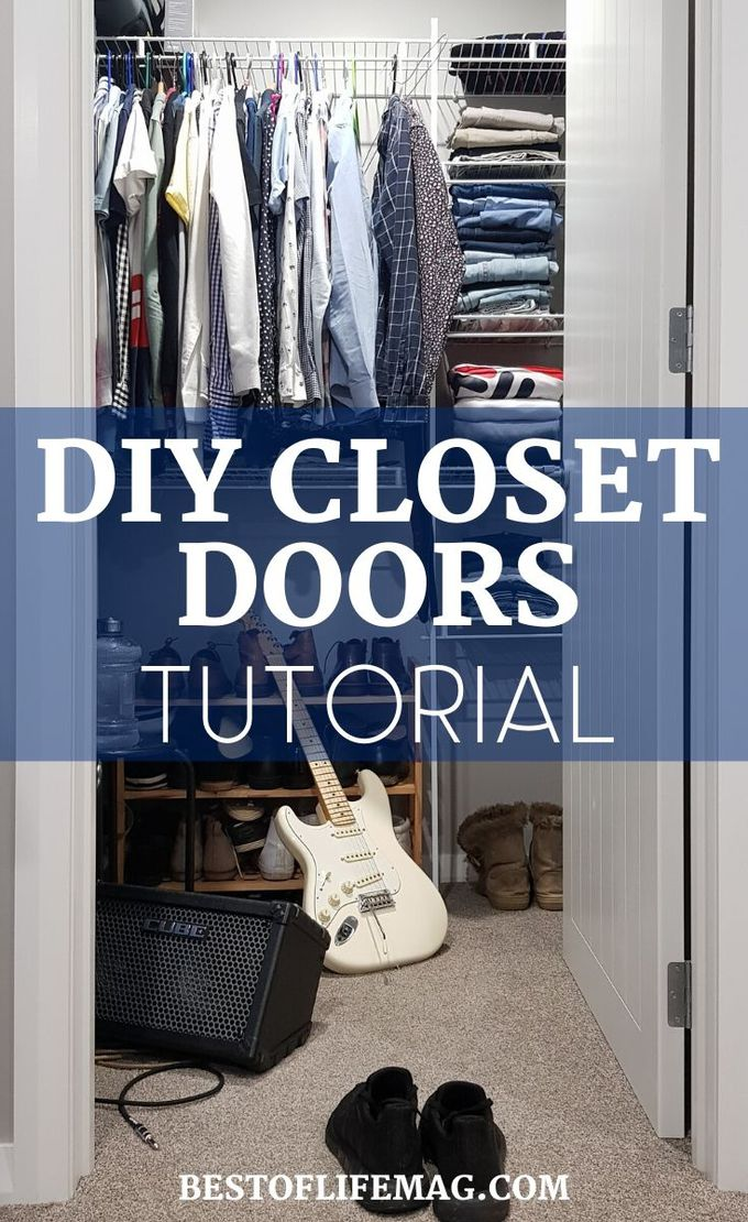DIY closet doors can help transform your entire room and make you pay more attention to an often forgotten space we use every day. DIY Projects | DIY Home Projects | Home Renovation Ideas | Bedroom Makeover Ideas | Remodel Tips | Bedroom Remodel Ideas #DIY #bedroom