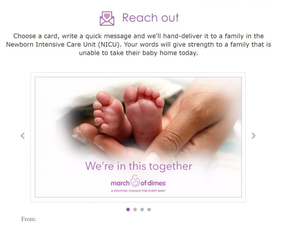 How to send a card to a family in the NICU.
