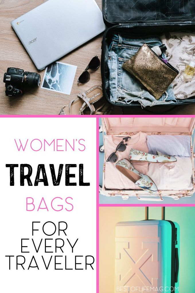 The best women's travel bags are beautiful, stylish, efficient, and useful! There is a perfect bag for every occasion and these are some great options! Travel Tips | Suitcases for Women | Stylish Travel Bags | Bags for Travel | Carry On Bags for Women | Travel Bags Backpacks | Travel Bag Essentials #travel #Fashion