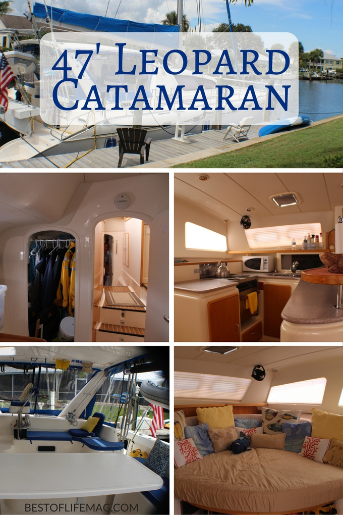"Downsizing to live aboard our 47"" Leopard Catamaran boat ended up being one of the best decisions we ever made. Come inside and see our photo tour!"