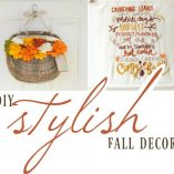DIY Fall Décor doesn't have to be unflattering! These are some stylish DIY Fall Decor ideas that you can make at home to enhance your fall look! DIY Fall Decorations for Outside | Decorating for Fall on a Budget | Fall Crafts to Make | DIY Home Décor
