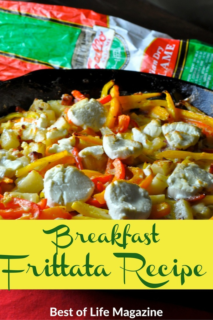 This breakfast frittata recipe is made from leftovers from our Hot Italian Cheese Balls recipe! Holiday hack heaven!
