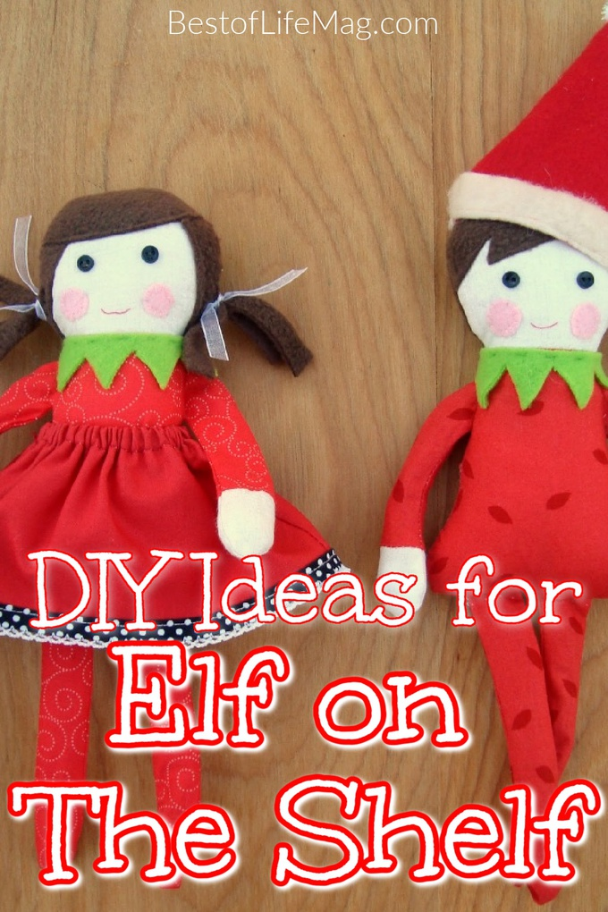Break out the scissors and cloth to make your own DIY Elf on The Shelf this holiday season and save a little money along the way. Elf on The Shelf Crafts | DIY Stuffed Elf on The Shelf | Elf on The Shelf DIY Ideas | DIY Holiday Ideas | Crafting Christmas | Holiday Crafts for Families | Things to do for Holidays | DIY Elf on The Shelf Clothes | DIY Elf on The Shelf House #elfontheshelf #DIY via @amybarseghian