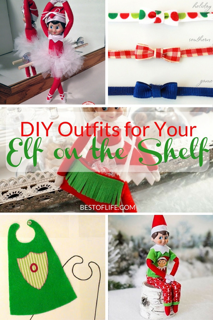 Some people can even use DIY Elf on The Shelf clothes as the starting point for tonight's scene.
