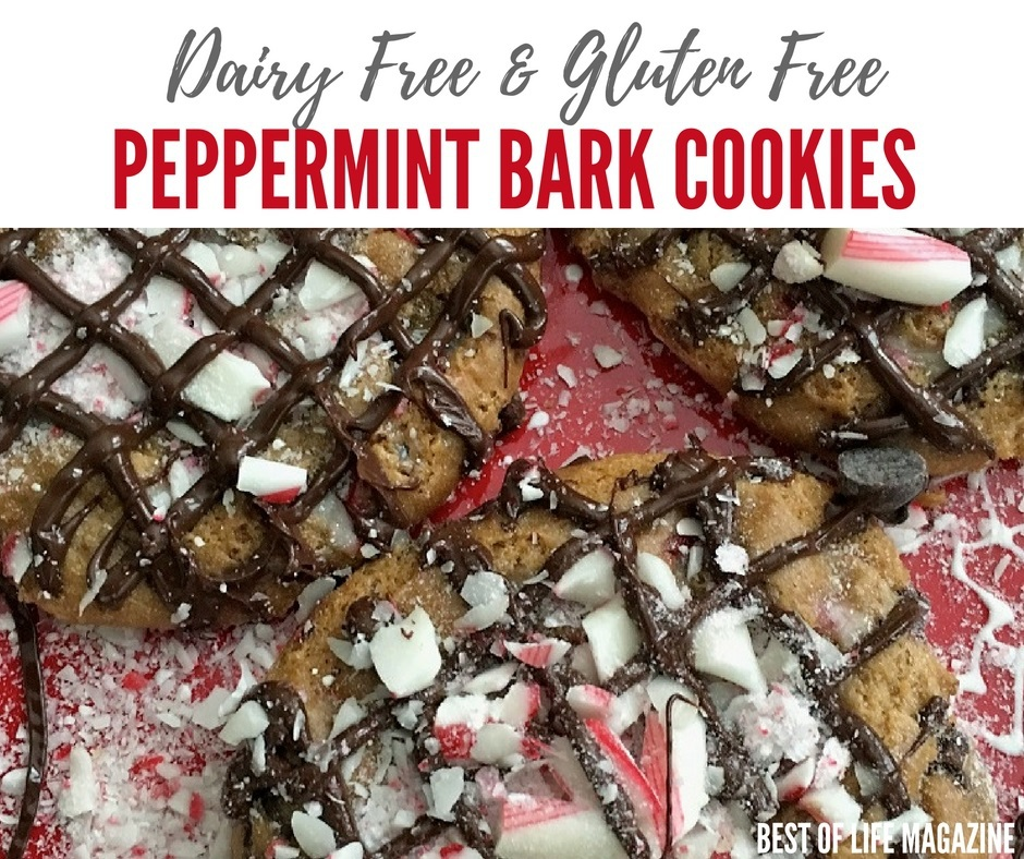 Dairy Free Peppermint Bark Cookies