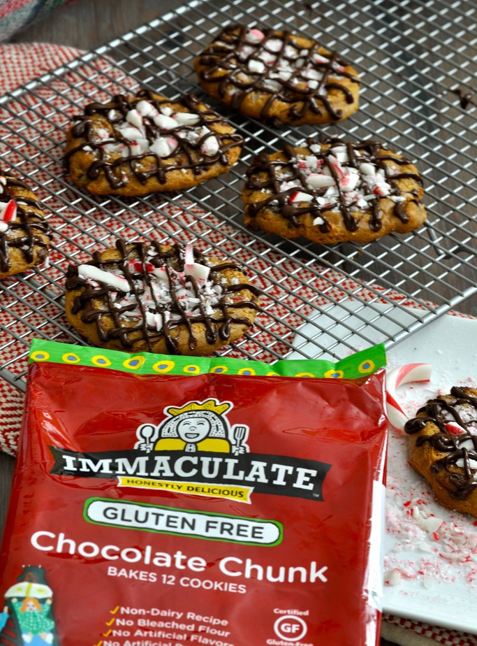 Make the holidays memorable with these gluten free and dairy free peppermint bark cookies with chocolate chips! Soft and moist, they will be a hit!