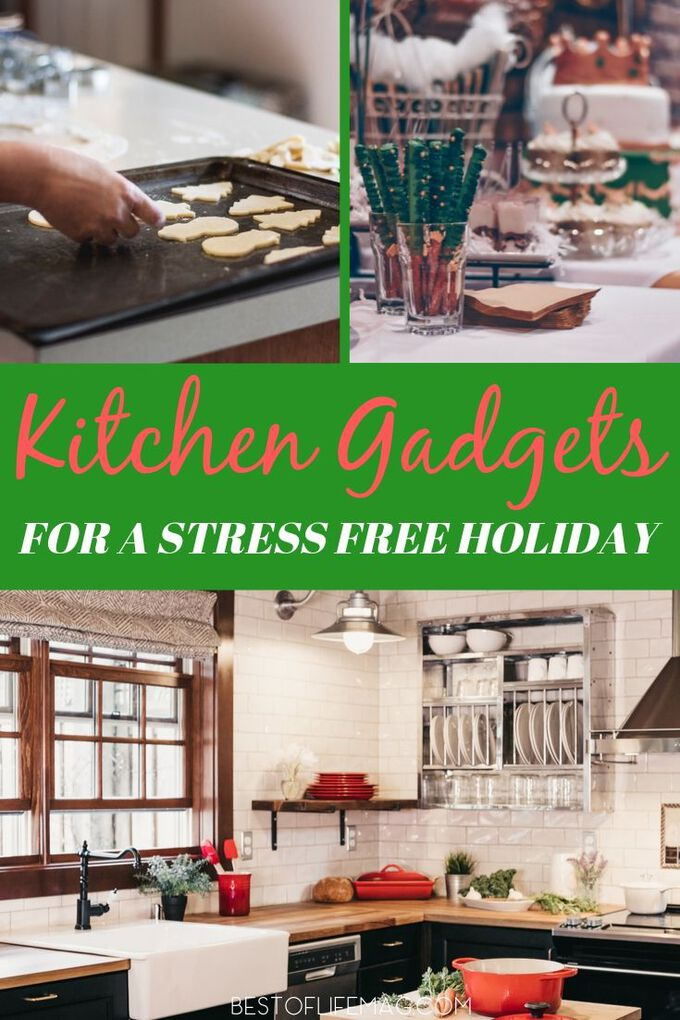 You can get through the busiest time of year with these kitchen gadgets. No more stressing about the perfect family meal! Holiday Cooking Tips | Holiday Tips | Cooking for a Crowd | Kitchen Tech Tips | Tips for Kitchen Gadgets | Holiday Ideas for Cooking #holidays #cooking