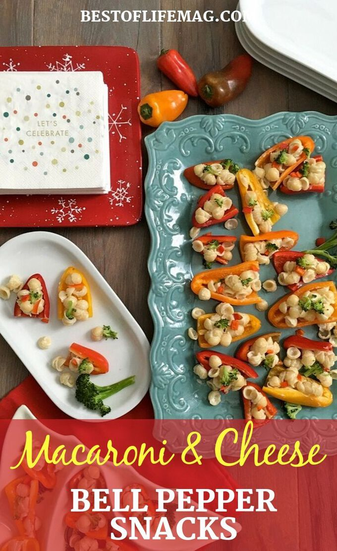 Our macaroni and cheese snacks with bell peppers make for a crisp and healthy snack everyone will enjoy any time of the day! Healthy Snack Recipes   Snack Recipes for Kids   Party Recipes   Macaroni and Cheese Ideas   Vegetable Side Dishes #healthy #recipe