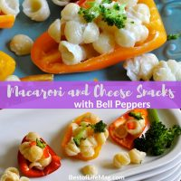 Our macaroni and cheese snacks with bell peppers make for a crisp and healthy snack everyone will enjoy any time of the day! Healthy Snack Recipes for Adults | Healthy Snack Recipes for Weight Loss | Healthy Snack Recipes for kids | Healthy Snack Ideas for Work | Heart Healthy Snack Recipes