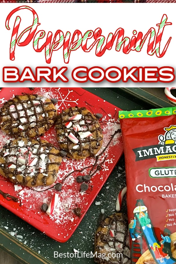 Make the holidays memorable with these gluten free and dairy free peppermint bark cookies with chocolate chips! Soft and moist, they will be a hit! Dairy Free Holiday Cookies   Christmas Cookie Recipe Easy   Christmas Cookie Ideas   Christmas Bark Recipe   Dairy Free Holiday Bark Recipe   Gluten Free Holiday Recipes   Gluten Free Dessert Recipes #glutenfree #desserts via @amybarseghian