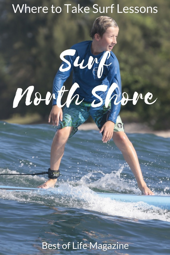 Learn to surf North Shore with Uncle Bryan's Sunset Suratt Surf School on Oahu.