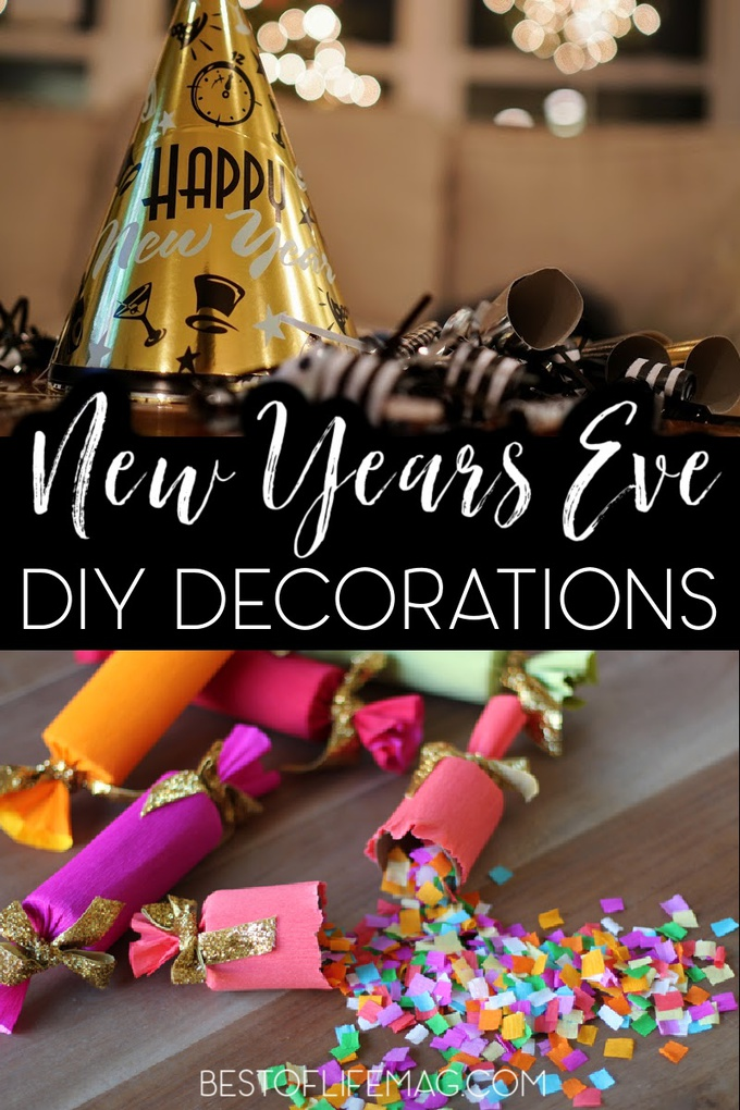 DIY New Years decorations can make your celebration shine! Give New Years the attention it deserves and start the new year off right! New Years Eve Party Ideas   New Years Ideas   New Years Eve DIY   Party Décor Ideas   Home Décor Ideas   Holiday DIY Ideas   DIY Decor Tutorials #diyhome #partydecor via @amybarseghian