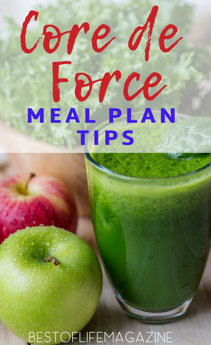 The Core de Force meal plan is designed to get you back into shape and these meal plan tips will help you fit this nutrition program into your lifestyle. Core De Force Review | Weight Loss Ideas | Beachbody Meal Plan Recipes | Healthy Recipes | Low Carb Recipes | Meal Plan Ideas #beachbody