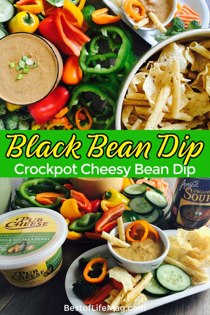 This crockpot black bean dip recipe comes together in minutes with only two ingredients making the perfect side or topping for salads and tacos. Crockpot Recipes | Party Recipes | Dip Recipes | Slow Cooker Recipes | Game Day Recipes #slowcooker #recipes via @amybarseghian