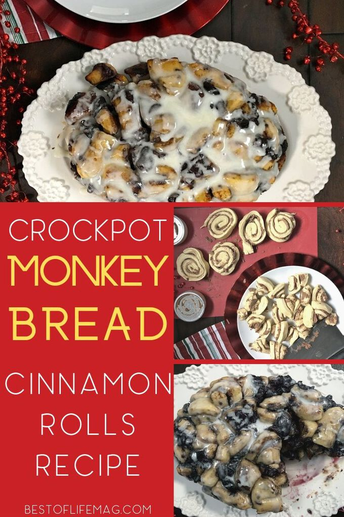 It's not necessary to sacrifice family time to make a delicious dessert everyone will love. Crockpot monkey bread cinnamon rolls are the perfect dessert! Monkey Bread Recipe | Crockpot Cinnamon Rolls | Slow Cooker Cinnamon Rolls | Slow Cooker Breakfast Recipe | Crockpot Breakfast Recipes | Slow Cooker Dessert Recipes | Crockpot Dessert Recipes #slowcooker #monkeybread