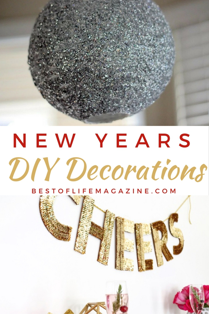 DIY New Years decorations can make your celebration shine! Give New Years the attention it deserves and start the new year off right!