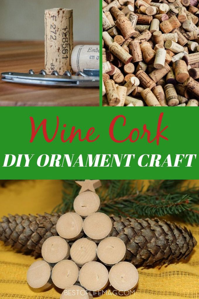 Make your own DIY Wine Cork ornament to hang on the tree and give away as gifts! These also make a great DIY gift tag for your favorite bottles of wine! Wine Lover Gifts | DIY Gift Ideas | DIY Wine Crafts | Wine Cork Ideas | DIY Crafts | Holiday Crafts | DIY Holiday Décor #diy #wine via @amybarseghian