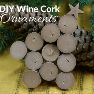 Make your own DIY Wine Cork ornament to hang on the tree and give away as gifts!