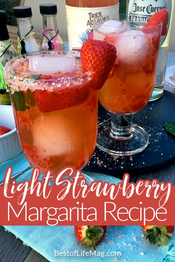 This clean tasting light strawberry margarita recipe will let you enjoy your favorite cocktail recipe without all the added calories! Margarita Ideas   Tequila Recipes   Fruity Margaritas   Happy Hour Recipes   Cocktail Recipes   Cocktail Recipes for a Crowd   Party Recipes   Margarita Recipes   Margaritas with Real Fruit   Fresh Fruit Cocktail Recipes #margaritas #cocktails via @amybarseghian