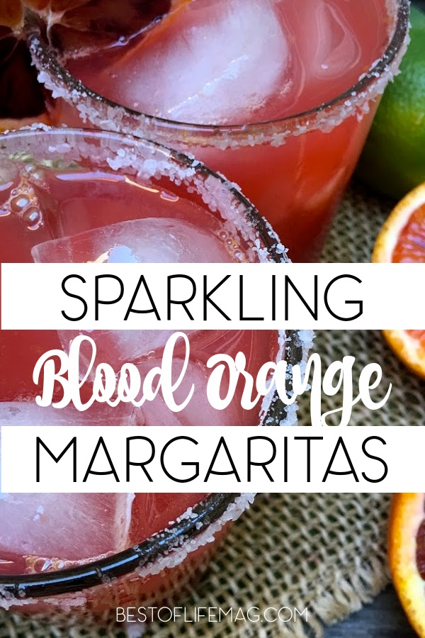 With freshly squeezed blood oranges and limes, this sparkling blood orange margarita adds a refreshing twist to a classic cocktail. Happy Hour Recipes | Cocktail Recipes | Margarita Recipes | Halloween Cocktail Recipes | Fall Cocktail Recipes #margarita #recipe via @amybarseghian