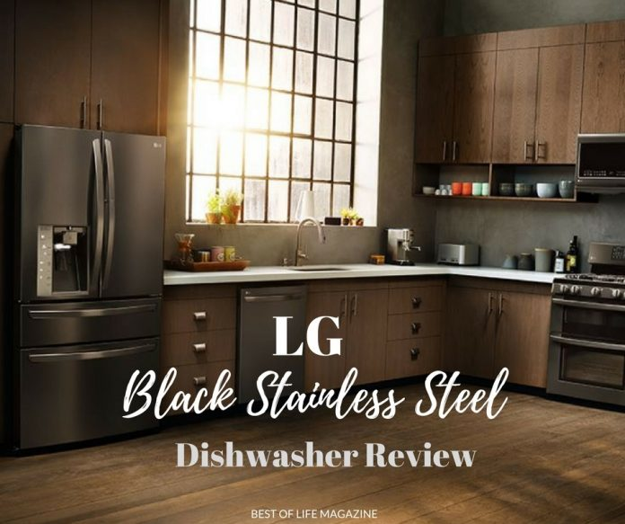 The LG Black Stainless Steel Dishwasher adds a touch of luxury to our everyday lives in both its appearance and how well it cleans our dishes.