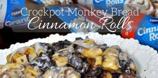 It's not necessary to sacrifice family time to make a delicious dessert everyone will love. Crockpot monkey bread cinnamon rolls are the perfect dessert!