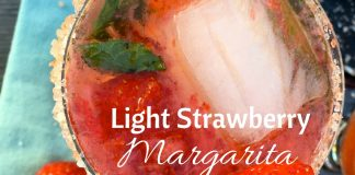 This light strawberry margarita recipe will let you enjoy your favorite beverage without all the added calories!