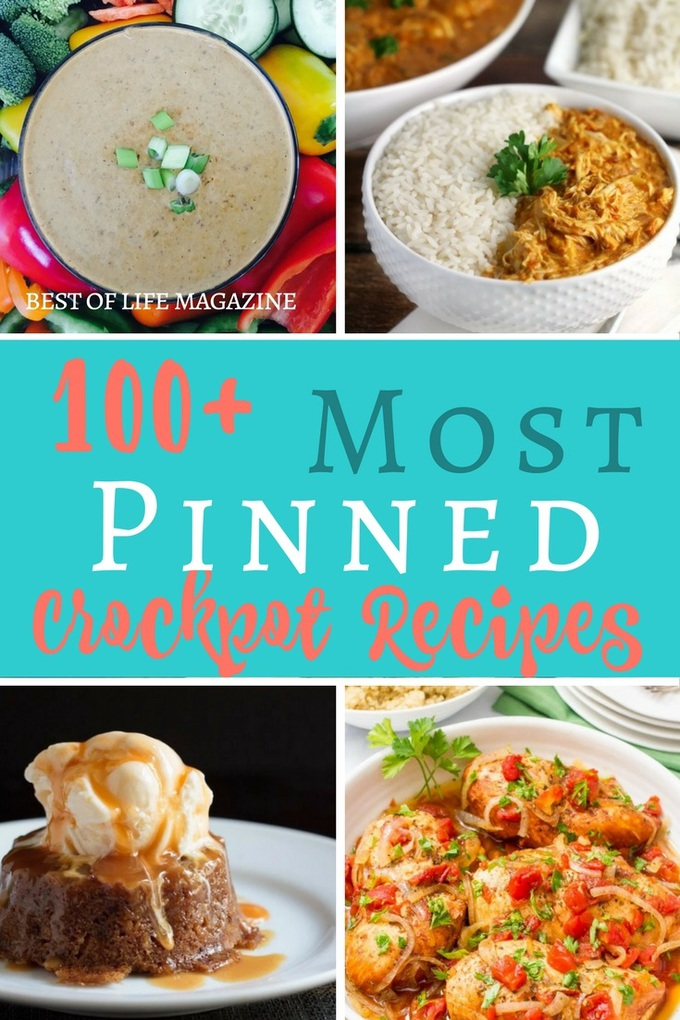 The most pinned crockpot recipes are the best recipes that can help you save time, eat healthy, and eat delicious meals while saving time with meal planning and preparation. Slow Cooker Recipes | Crockpot Breakfast Recipes | Crockpot Dinner Recipes | Crockpot Chili Recipes | Crockpot Dessert Recipes #crockpot #recipes