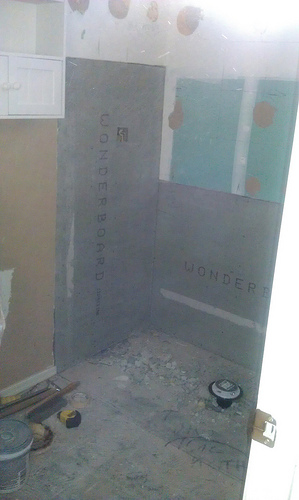 Arizona stone gallery bathroom remodel day 3 the best for Bathroom remodel in 3 days