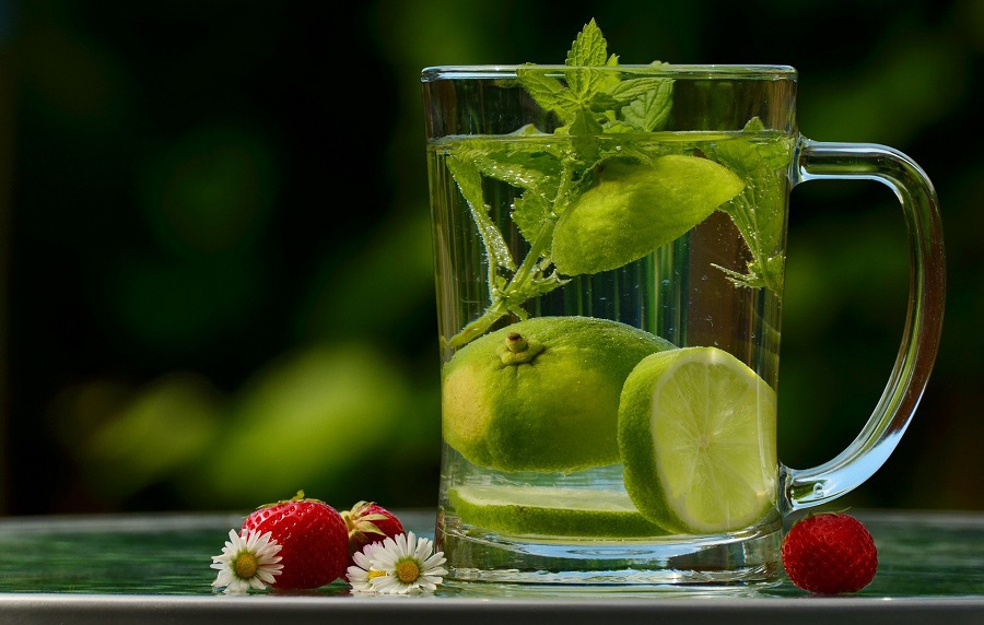Jillian Michaels Detox Tips A Pitcher of Water with Fruits Inside