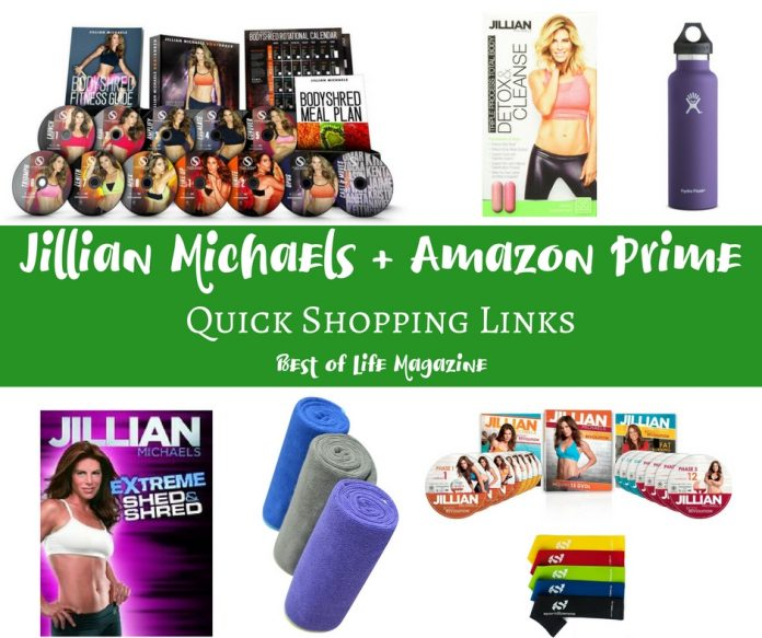Jillian Michaels Amazon shopping links make it easy to get everything you need to lose weight, feel great, and meet your goals.