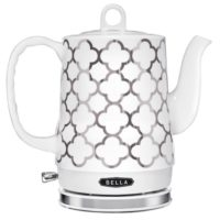 This Bella Electric Tea Kettle looks beautiful and is safe because there are no plastic pieces inside below the boiling line.