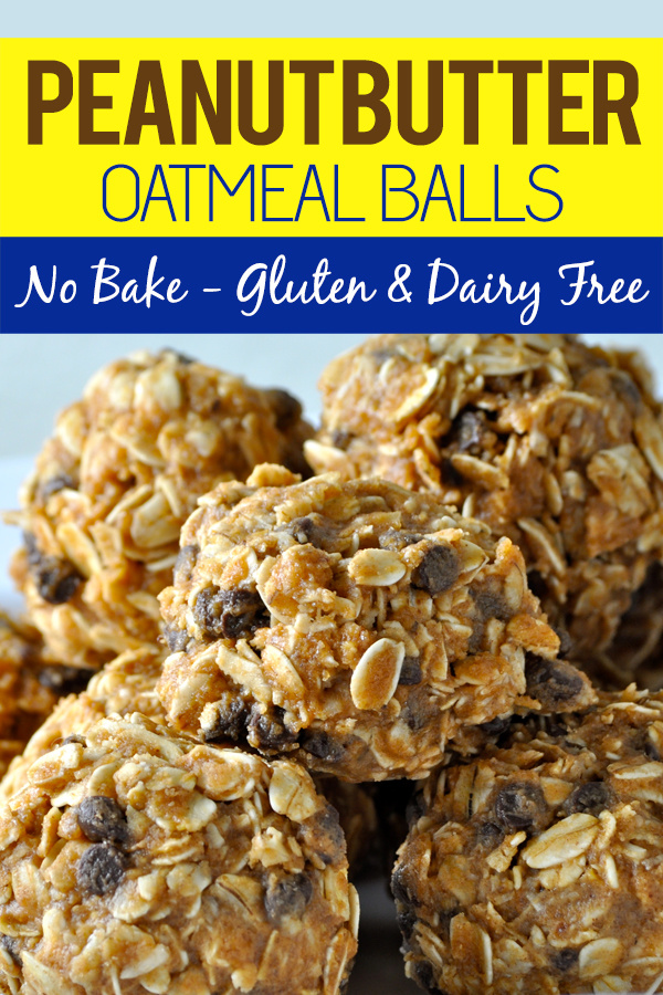 This no bake peanut butter oatmeal balls recipe is gluten free and dairy free making it the perfect healthy snack for an active lifestyle. Dairy Free Snack Recipes | Gluten Free Snack Recipes | Dairy Free Oatmeal Balls Recipes | Gluten Free Oatmeal Balls Recipes | Healthy Snack Recipes #healthy #recipes