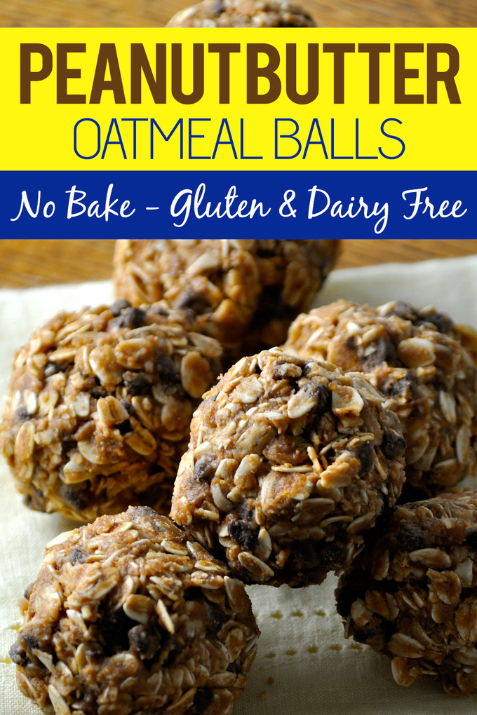 This no bake peanut butter oatmeal balls recipe is gluten free and dairy free making it the perfect healthy snack for an active lifestyle. Dairy Free Snack Recipes | Gluten Free Snack Recipes | Dairy Free Oatmeal Balls Recipes | Gluten Free Oatmeal Balls Recipes | Healthy Snack Recipes #healthy #recipes via @amybarseghian