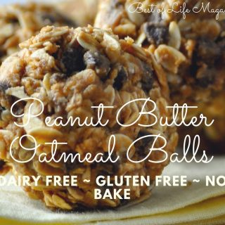 This no bake peanut butter oatmeal balls recipe is gluten free and dairy free making it the perfect healthy snack for an active lifestyle. Healthy Snacks | Snacks for Weight Loss | Dairy Free Snacks | Gluten Free Snacks | Dairy Free Oatmeal Balls | Gluten Free Oatmeal Balls