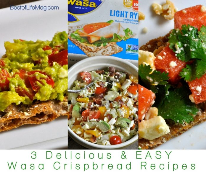 Wasa Crispbread recipes make for perfect snacks and appetizers! Our watermelon and feta salsa, BLT, and avocado spread recipes are delicious and satisfy kids and adults.