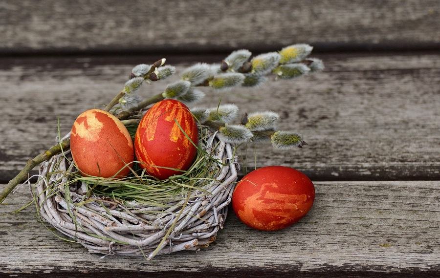 Dairy Free Easter Candy Recipes Tiny Nest with Red Painted Eggs