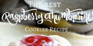 The best raspberry thumbprint cookies recipe is easy to make, easy to prep, and easy to clean off the plate when finished.