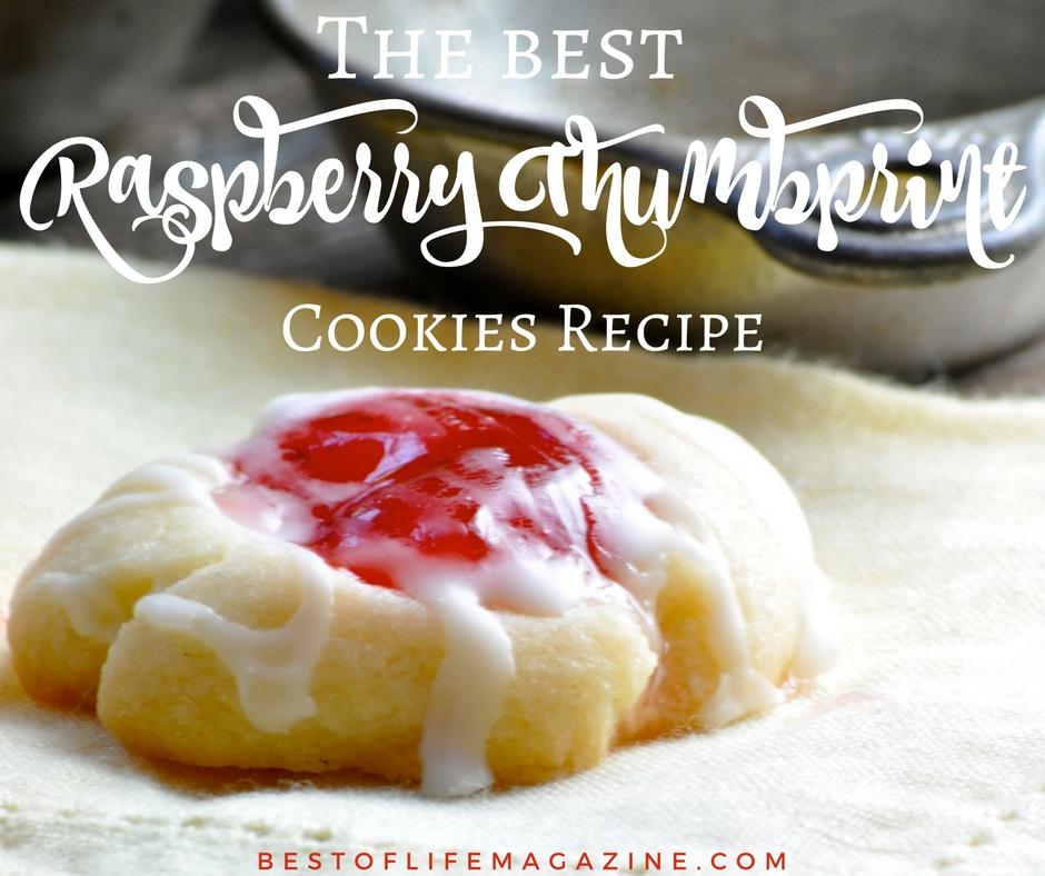 Raspberry Thumbprint Cookies Recipe {The BEST Thumbprint