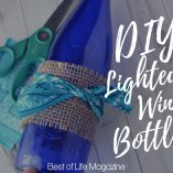 When you learn how to make a DIY Lighted Wine Bottle craft you can turn your love of wine in a display to enjoy all day long. DIY Crafts | DIY Ideas | DIY Wine Bottle Crafts | Wine Bottle Art Tutorial