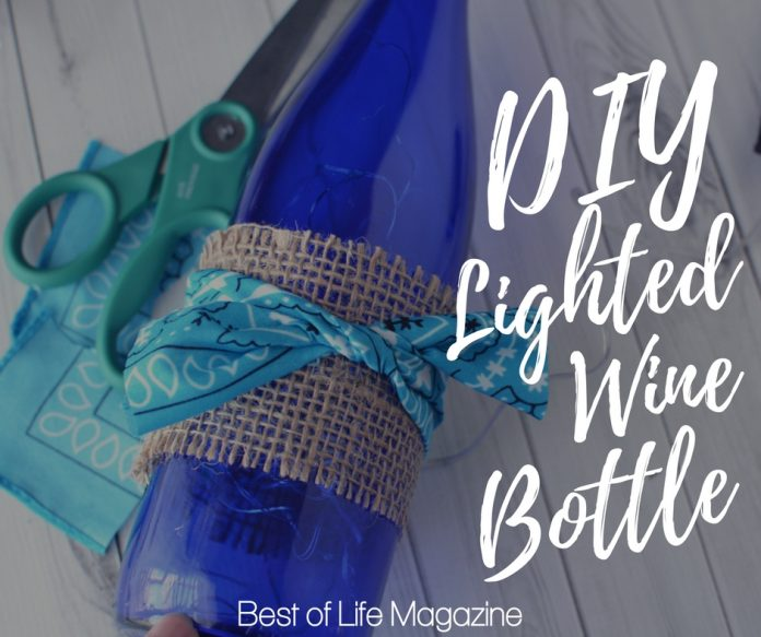 When you learn how to make a DIY Lighted Wine Bottle craft you can turn your love of wine into a display to enjoy all day long.