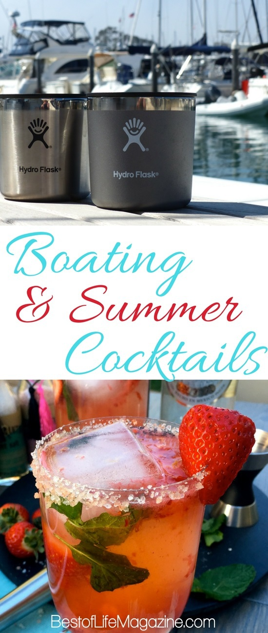 Use the best boating drinks to turn an hour of boating into a happy hour of boating filled with laughs, friends, family, and great booze. Tropical Cocktail Ideas | Summer Cocktails | Drinks for Boating | Boating Recipes |Summer Recipes #cocktails via @amybarseghian