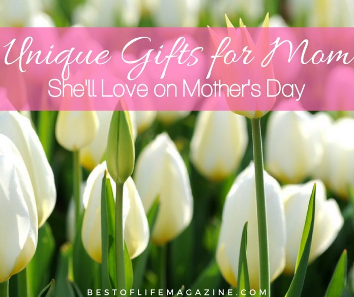 Celebrate mom this Mother's Day with the best unique gifts for mom and make sure she knows just how grateful you are for her being her.