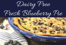 There is nothing better than an easy, warm, fresh, blueberry pie recipe; this pie recipe also happens to be dairy free!