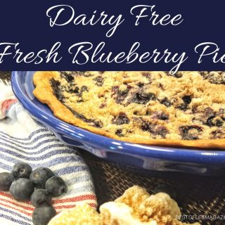 There is nothing better than an easy, warm, fresh, blueberry pie recipe; this pie recipe also happens to be dairy free! Dairy Free Recipes | Dairy Free Pie Recipe | Blueberry Pie Recipe | How to Make a Blueberry Pie | How to Make a Dairy Free Pie