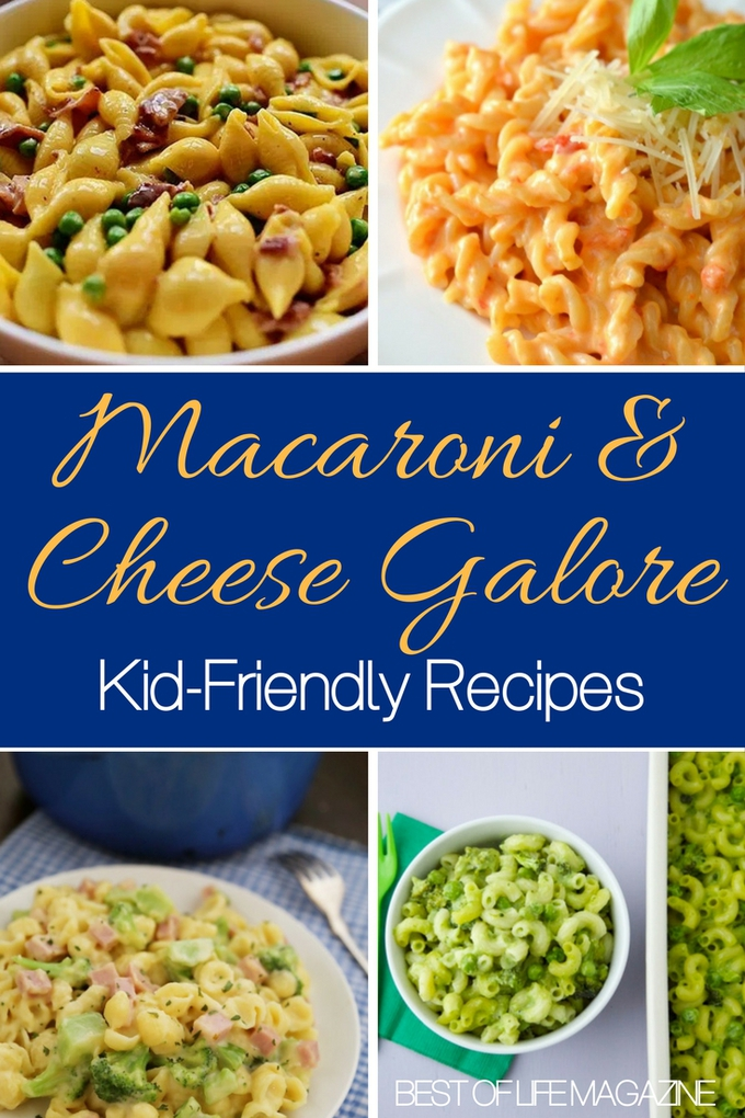 Kid-friendly macaroni and cheese recipes will help your children clean their plate and make you happy that they're eating right. Macaroni Ideas | Macaroni and Cheese for Kids | Recipes for Children | Easy Snack Recipes | Easy Recipes #parenting #recipes via @amybarseghian