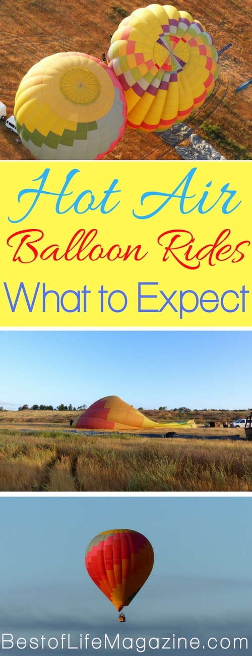 Hot air balloon rides are a bucket list item for many people. If you find yourself wondering what to expect on a hot air balloon ride, you are not alone. Hot Air Balloon Tips | Hot Air Balloon Ideas | Travel Ideas | Things to do in Summer | Things to do in Spring #travel #activities